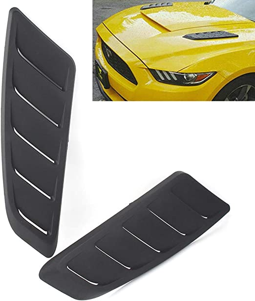 Carbon Fiber Acouto Car Hood Air Intake Louver Panel Engine ABS Cooling Vent Cover Trim Accessory,Air Intake Trim Panel Installed on The Hood