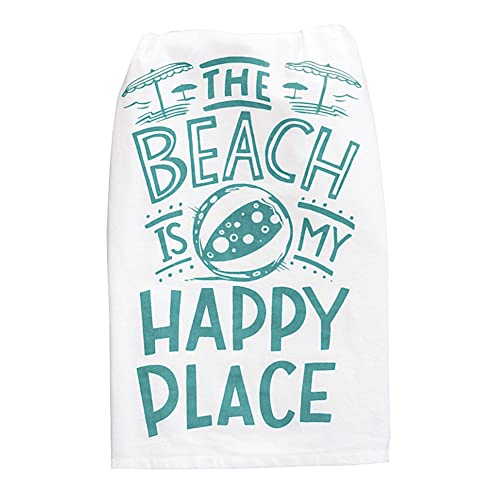 Primitives By Kathy - Dish Towel - Happy Place (35663)