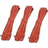 3x wire wrap encogimiento por tubos termoretráctiles rojo 3mm Diámetro 4m