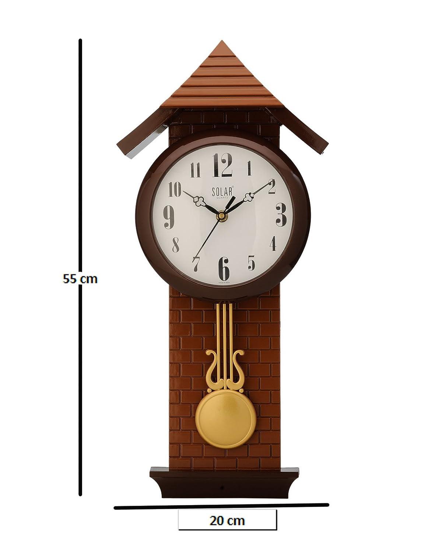 Buy solar plastic wall clock 35 x 15 x 70 cm brown octagonal solar pendulum plastic wall clock 50 cm x 17 cm x 6 cm chocolate amipublicfo Gallery