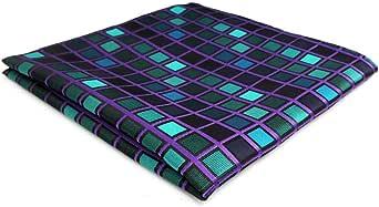 shlax&wing Nuevo Diseño Azul a cuadros Corbatas Para Hombre Set ...