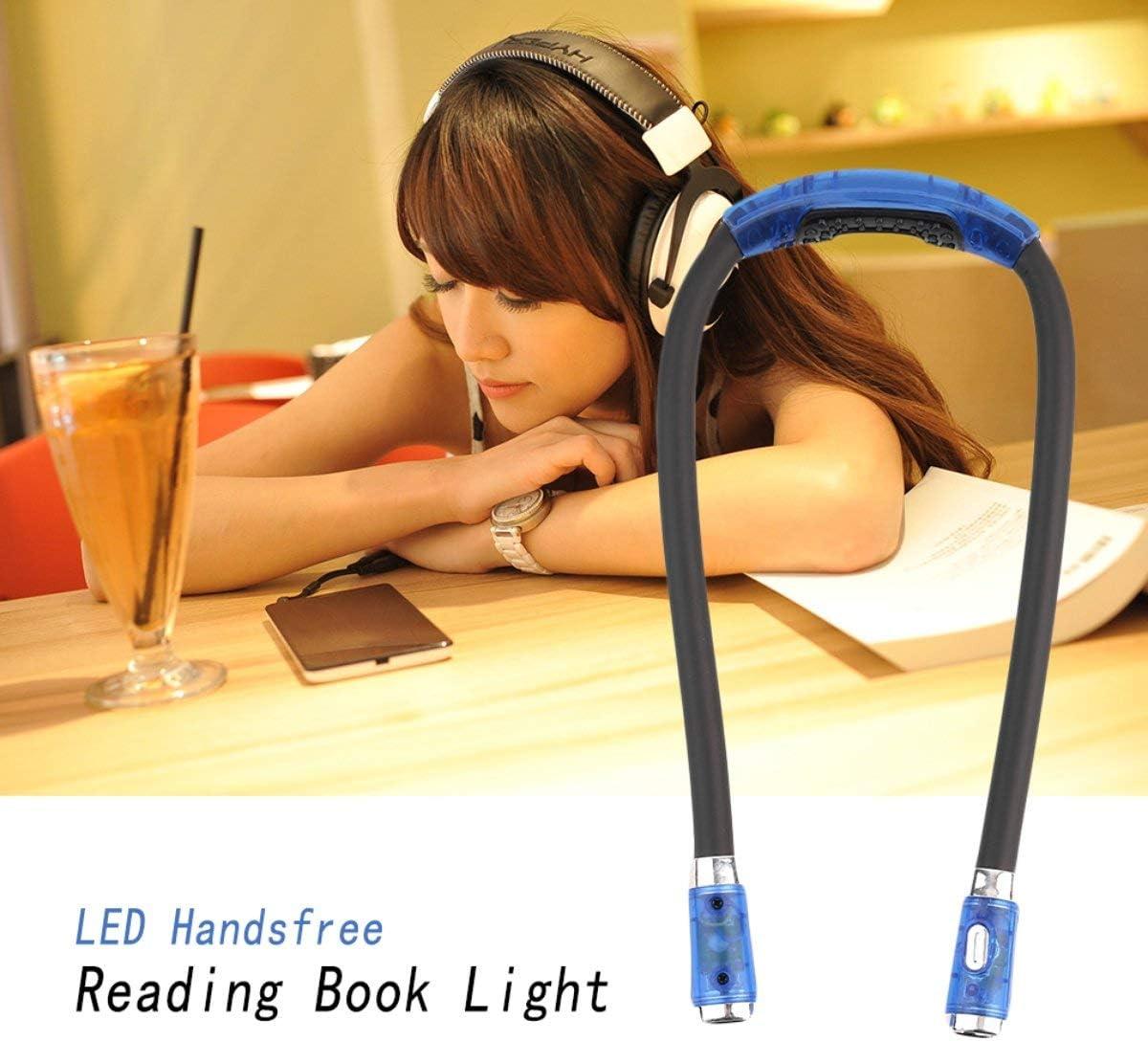 Greatangle Blu//Rosa//Nero Unico Flessibile Regolabile 4 modalit/à LED Vivavoce Libro di Lettura Night Neck Hug Light Leggi Night Light Lamp Black