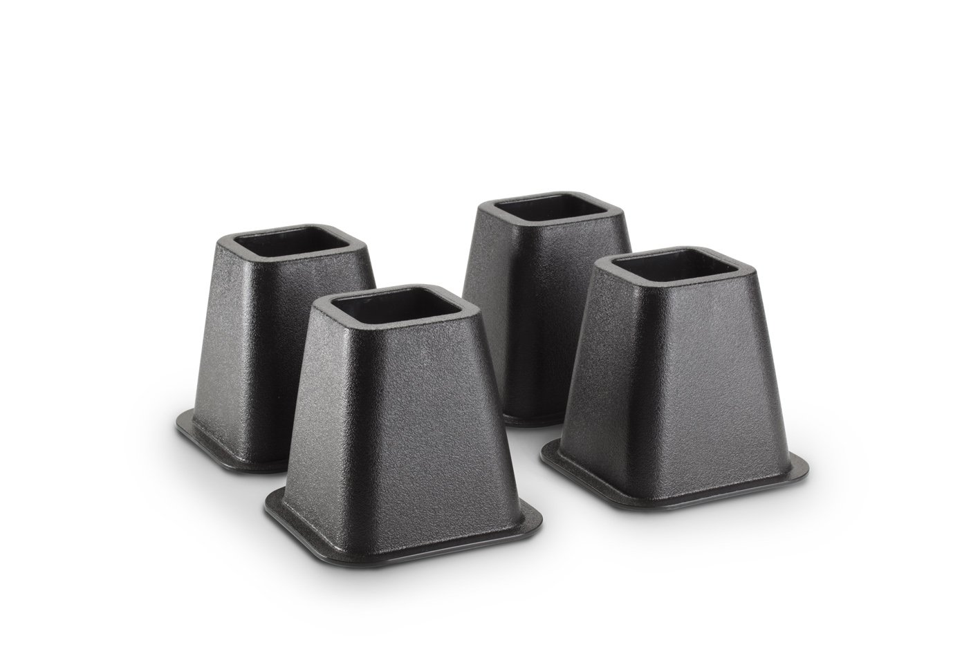 KENNEDY HOME COLLECTIONS  Simplify 6.25 sq.in x 6 in Black Bed Risers,4-pack (Stronger Support)