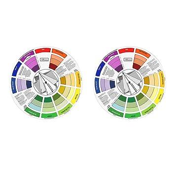 Amazon Com Baosity 2 Pieces Portable Color Wheel Tool Mixing Paint