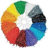 Fun Express Cheerleader Pom Pom Assortment (12 Colors one of Each) School Spirit Supplies