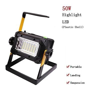 50W Portátil Foco Lámpara LED Proyector,Lámpara Camping,Luz para ...
