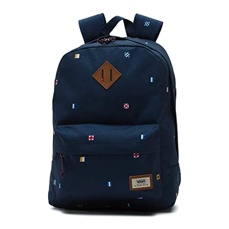 Vans Old Skool Plus Backpack Rucksack, 44 cm, 23 L, Nautical Flags ...