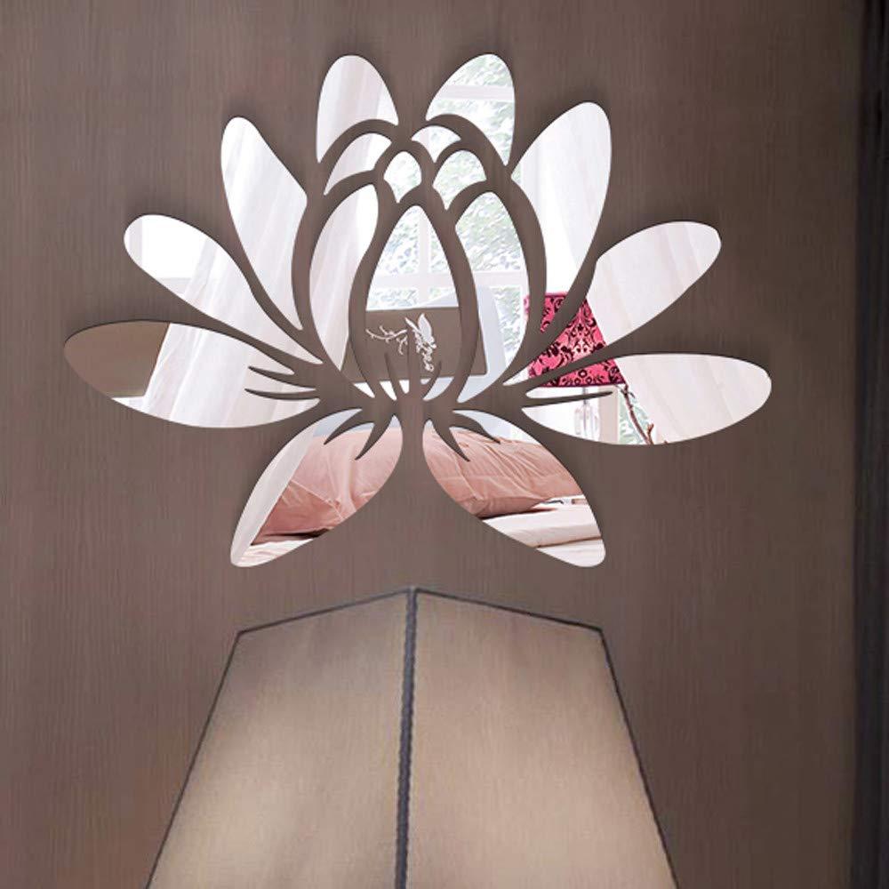 iYBUIA 3D DIY Room Decoration Specchio Acrylic Wall Sticker Modern Stickers Decoration