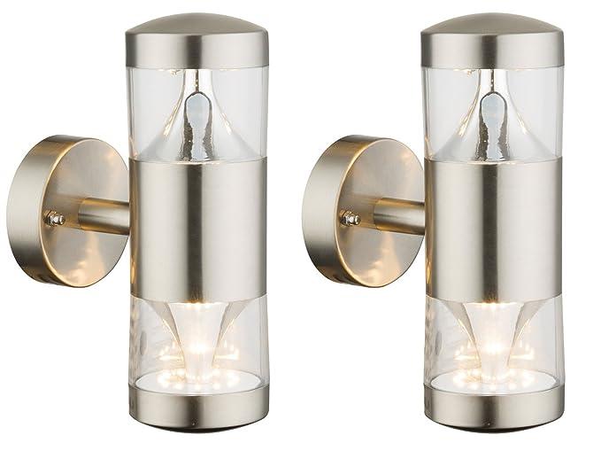 Set di lampada led per esterni in acciaio inox up down applique