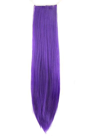 Amazon mapofbeauty 2255cm beautiful straight long ponytail mapofbeauty 22quot55cm beautiful straight long ponytail hair extensions dark violet pmusecretfo Images
