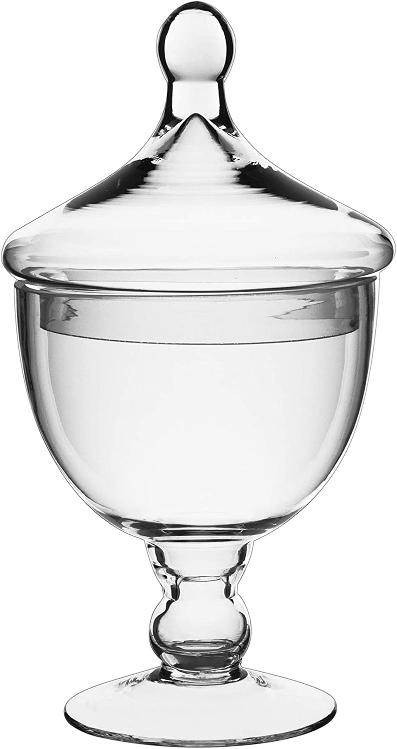 CYS EXCEL Glass Apothecary Candy Buffet Jar (H:9.5