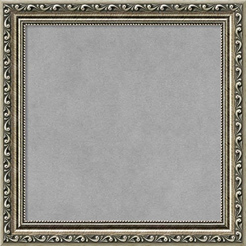Framed Magnetic Board, Choose Your Custom Size, Parisian Silver Wood