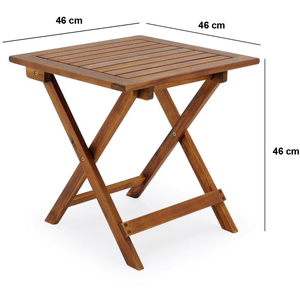 Deuba 46x46cm Acacia Wood Bistro Table, Coffee, Side, Snack Table Solid  Wooden Pre Oiled Brown: Amazon.co.uk: Garden U0026 Outdoors