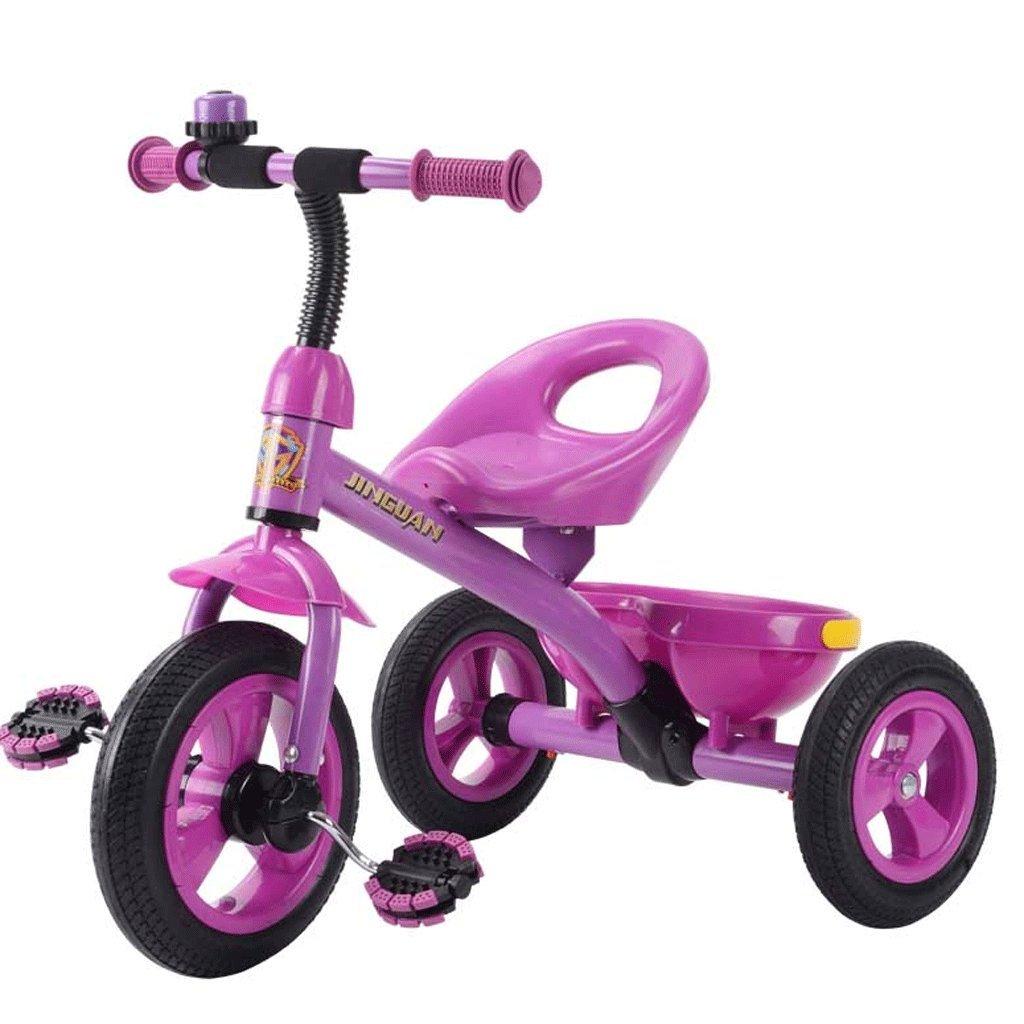 DGF 子供の三輪車3-6歳のベビーベビーカーのおもちゃの車の自転車無料のインフレータブルキッズバイク (色 : ピンク ぴんく) B07F2JDXJ7 ピンク ぴんく ピンク ぴんく