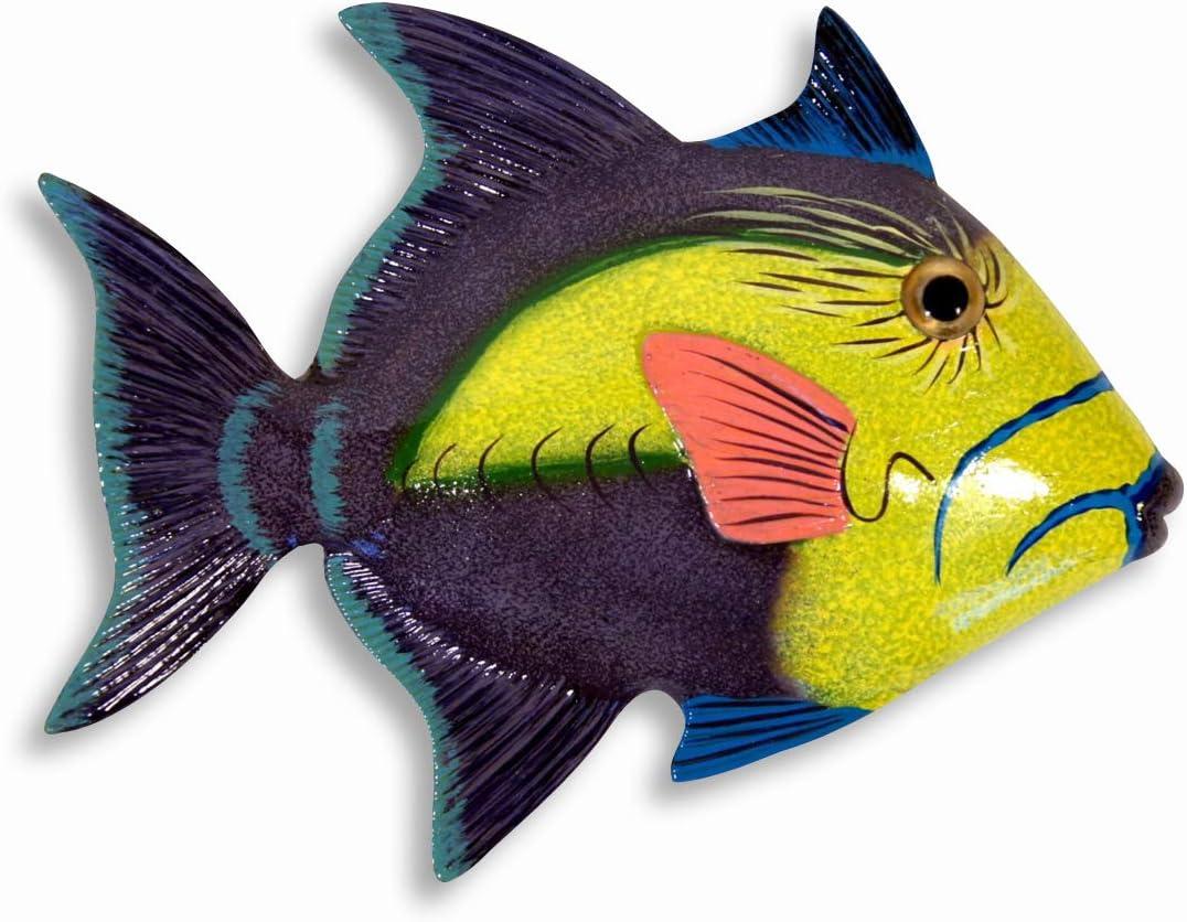 Handpainted L-B Tropical Fish Replica Wall Mount Decor Plaque 6 Set of 6