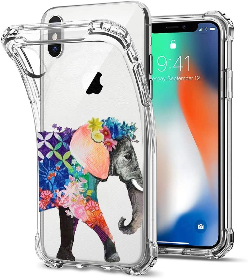 Strawberries Air Cushion Corners Protection Crystal Transparent Cover Oihxse Shockproof Case Compatible for iPhone 6//6S Clear Back with Design Soft Silicone TPU Ultra Thin Slim Fit Chic
