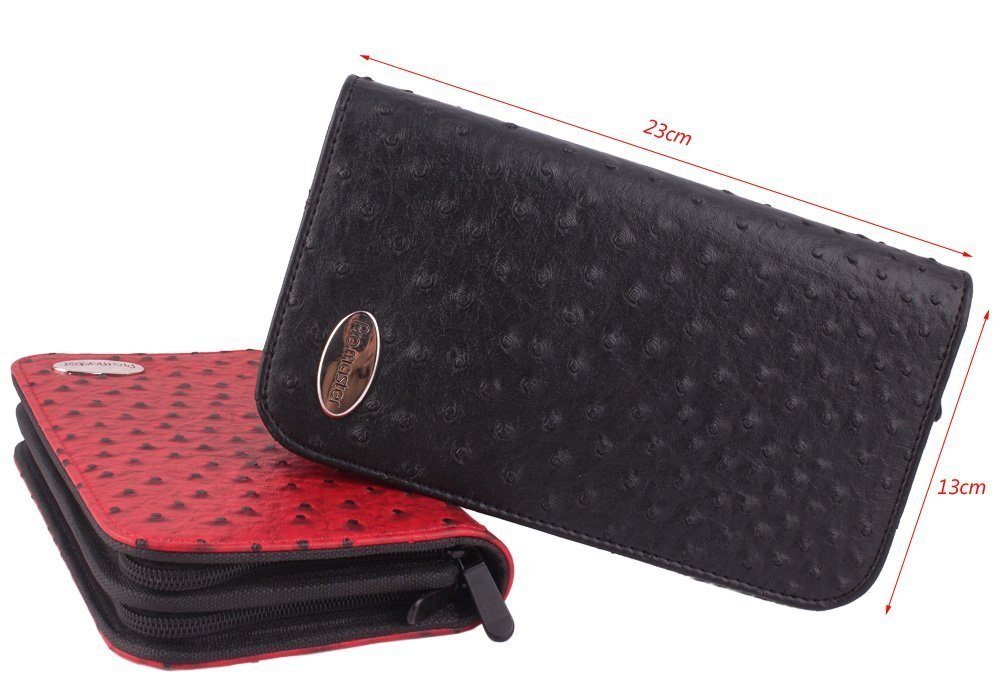 Hair Stylist Scissor Holder Pouch Cases for Hairdressers, Salon Tools Holster Bag, Pu Leather, Ostrich Pattern Perfehair