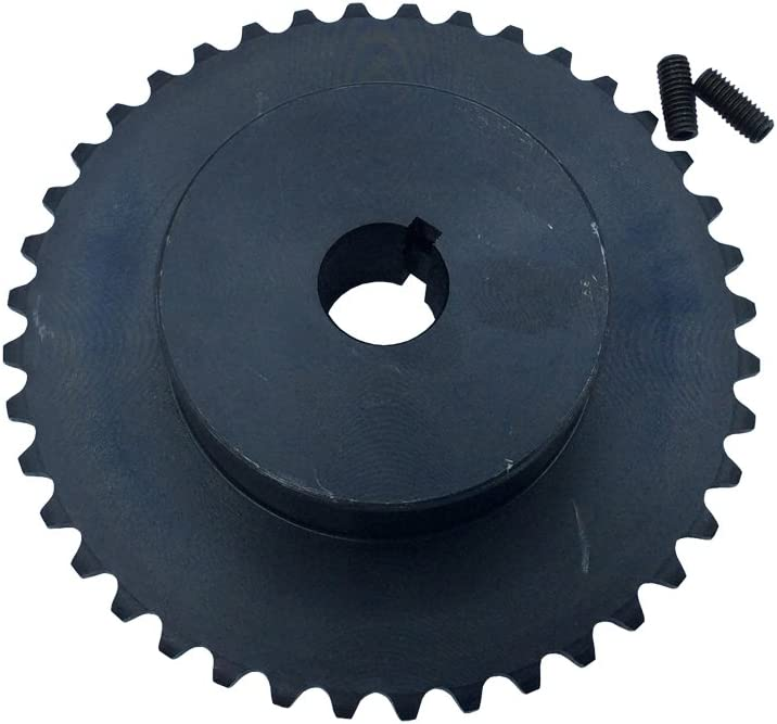 """# 35 Sprocket 50 Teeth Bore 0.75 inch Pitch 3/8"""" B Type Fit for 35 Roller Chain Black 1Pcs 61m2B2YLnknL"""