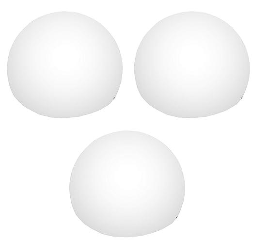 3 Lámparas Luces Flotantes LED para Piscina, Estanque, Bañera, Jardin - 8cm Esfera