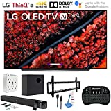 LG OLED65C9PUA 65' C9 4K HDR Smart OLED TV w/AI ThinQ (2019) w/Soundbar Bundle Includes Deco Gear 60W Soundbar with...