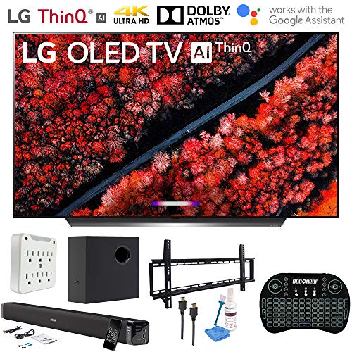 LG OLED65C9PUA 65″ C9 4K HDR OLED TV w/AI ThinQ and Essentials Bundle (2019 Model)