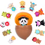 Li'l Woodzeez 小树灵 摇头动物玩偶系列2 摇头公仔 扭蛋 彩蛋玩具 内容颜色随机限量版 6261GTZ