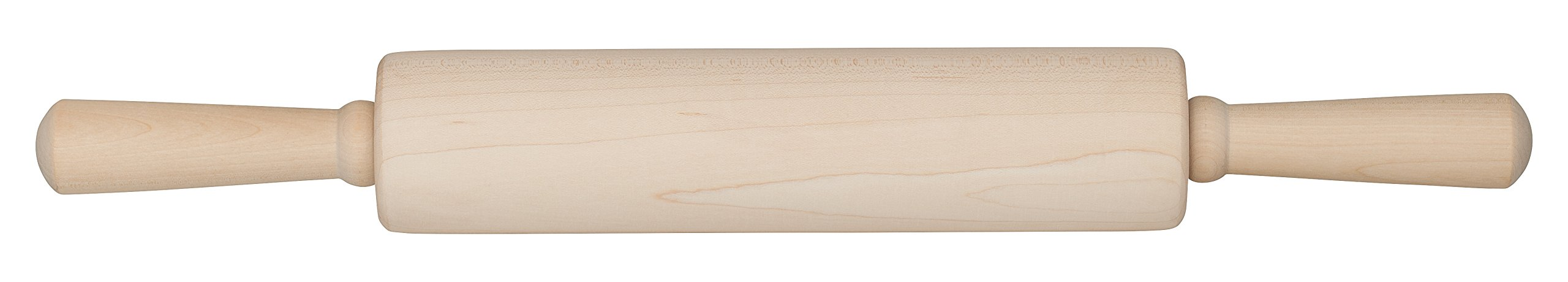 Mrs. Anderson's Stainless Steel Ball Bearing, Classic Wooden Rolling Pin, Made in America,10-Inch x 2.25-Inch