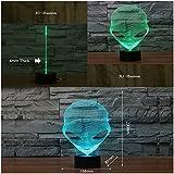 Saiam 3D Lamp USB Power 7 Colors Amazing Optical Illusion 3D Grow LED Lamp Alien Shapes Children Bedroom Night Light