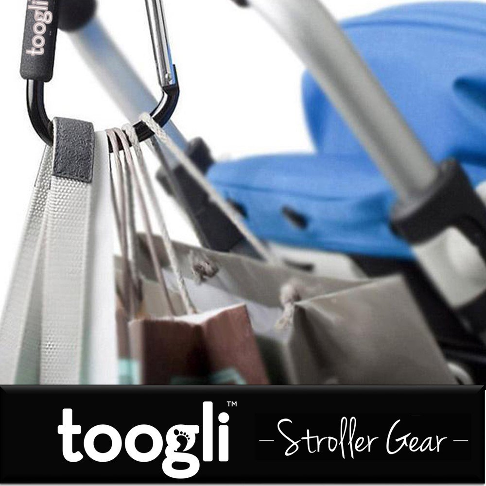 Amazon.com: X Large Stroller Hook Set For Mommy By Toogli. Two Great  Organizer Baby Accessories For Hanging Diaper U0026 Shopping Bags U0026 Purses.