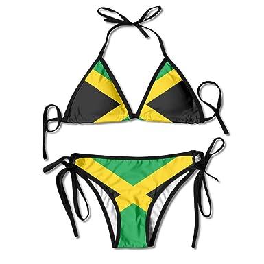 09dc3bc0110e5 Drapeau de la Jamaïque Sexy Femmes Plage Maillots De Bain Deux ...