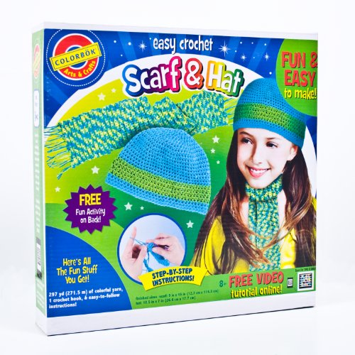 Colorbok Crochet Scarf and Hat Kit