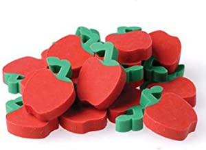 """US Toy - Miniature 3/4"""" Apple Erasers, Ages 3 Years & Up (1-Pack of 144)"""