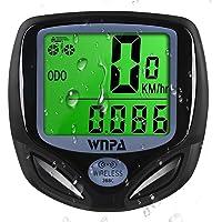 WNPA Fiets Computer Draadloos, Fiets Snelheidsmeter Waterdicht 16 Functies Kilometerteller LCD Display voor Fietsen