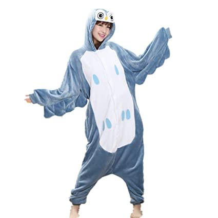 Colorfulworld Pijamas Juguetes y Juegos Animal Ropa Animales Pijama Cosplay Disfraces (L, owl)