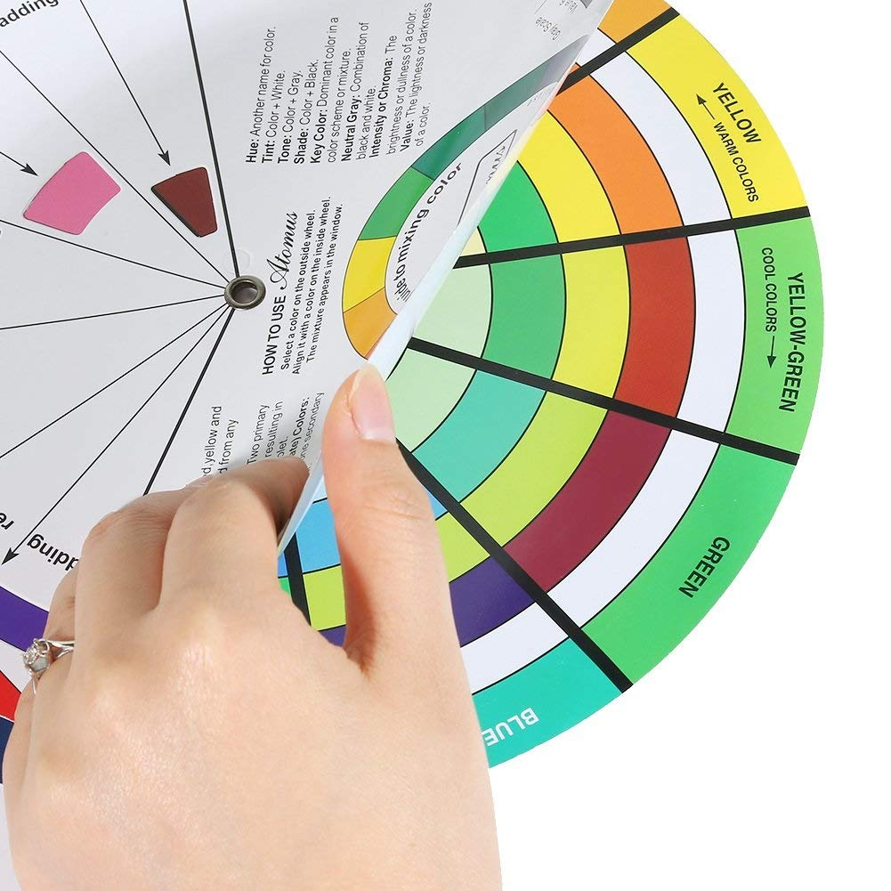 Color Mixed Guide for Quilting Paint Mixing Color Learning Guide Art Class Makeup Teaching Tool 9.25inch Creative Color Mixing Guide for Both Amateur and Professional Artists Mix Color Wheel
