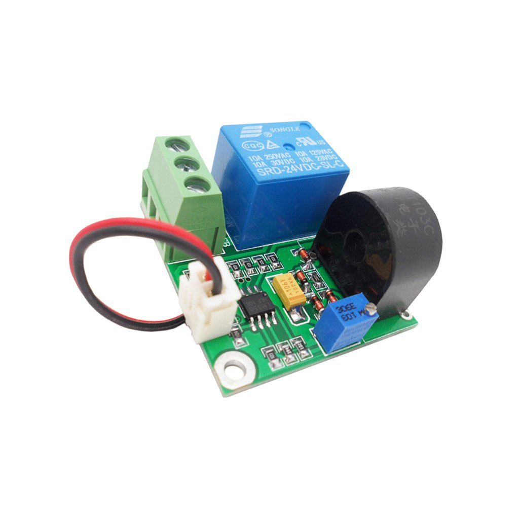 Baoblaze Working DC 24V AC Current Sensor Module Detection Module 10A Switch Output by Baoblaze