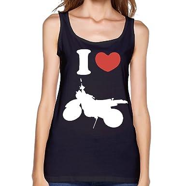 1947cb1af30a2 I Heart Love Dirt Bike Women s Sleeveless Blank Tank Top-Model Comfy Tank  Crop Tops