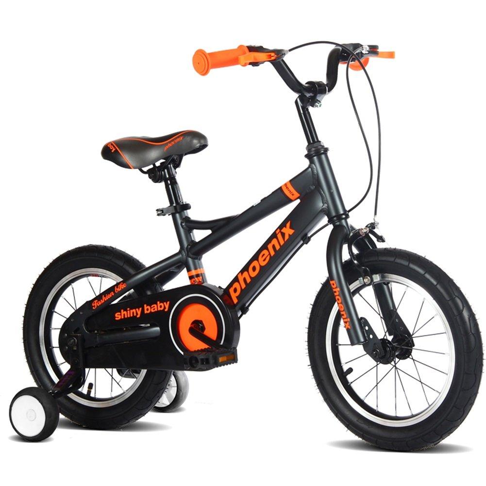 XQ TL-122子供の自転車3-13歳の男の子のスペースアルミ子供の自転車サイズ:115cm 子ども用自転車 ( 色 : ブラック ) B07C3RT972ブラック