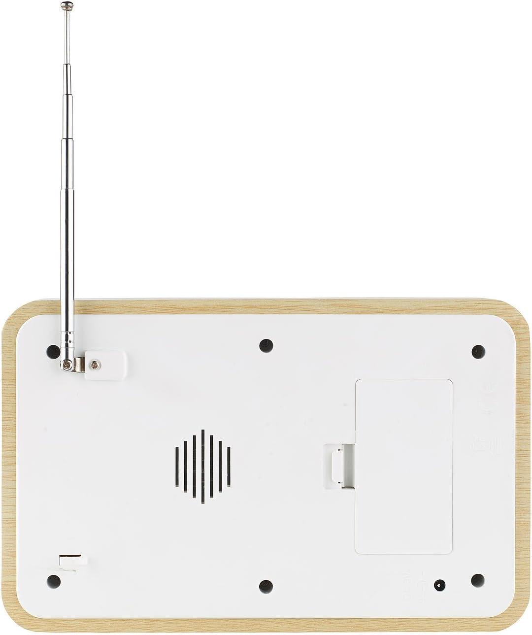 Beige Radio-r/éveil design avec choix des fr/équences digital