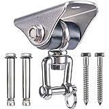 SELEWARE 1000 lb Capacity Silent 360° Swivel Swing Hangers, Heavy Duty Swing Hooks with 4 Screw for Concrete Wooden…