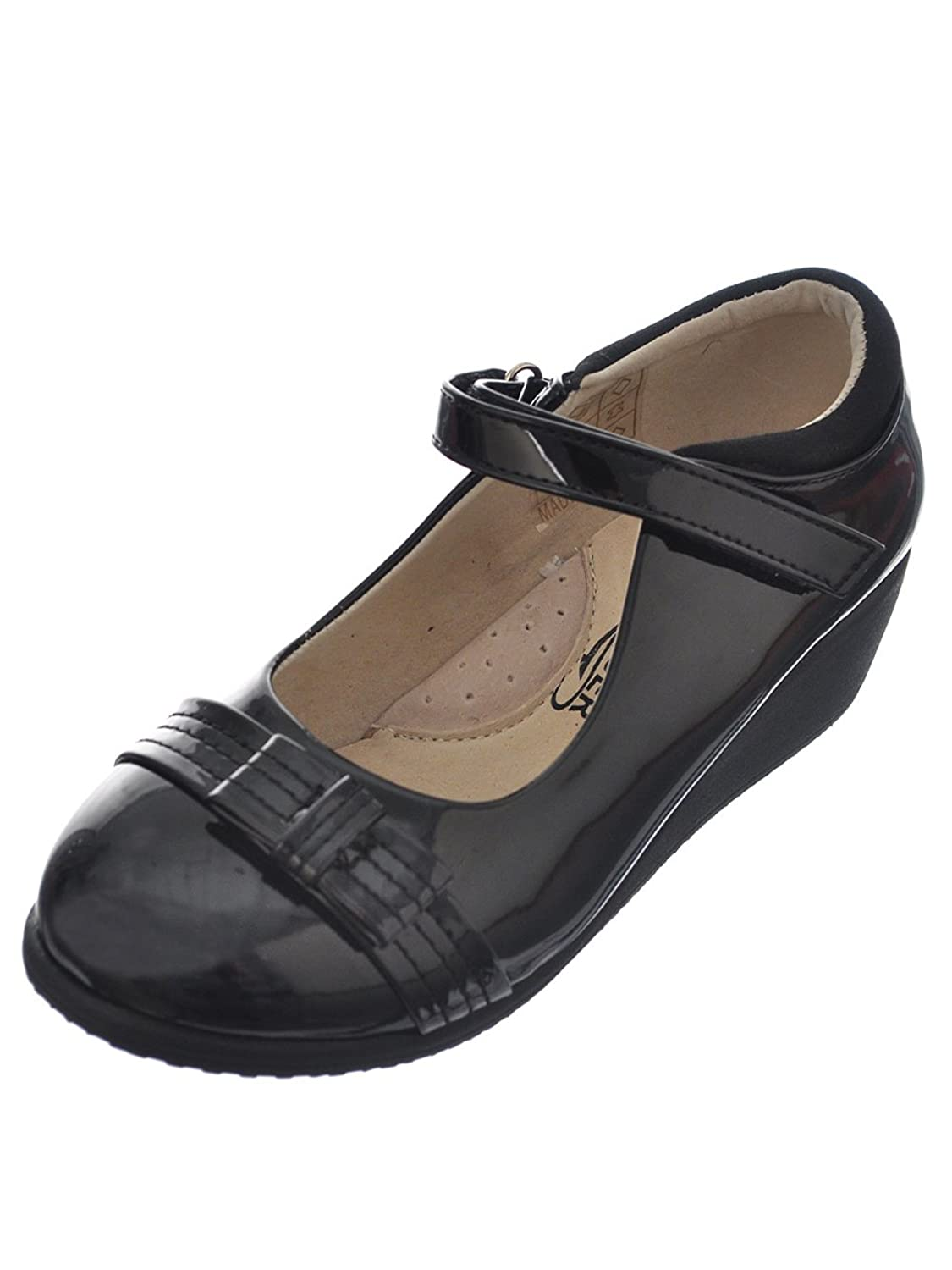 Easy Strider Girls'Stitched Patent Bow Mary Janes