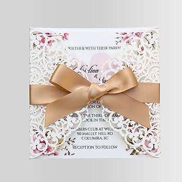 Amazon doris home square wedding invitations cards kits fall doris home square wedding invitations cards kits fall bridal baby shower invite birthday invitation stopboris Gallery