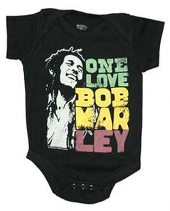 cd5679c8b31a Amazon.com  Bob Marley Smile One Love Baby Onesie  Clothing