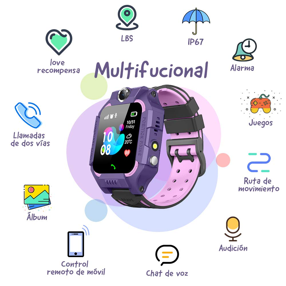 NAIXUES 2019 Smartwatch Niños, Reloj Inteligente para Niños ...