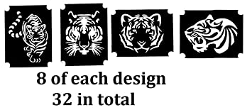 0e0d59ea67ffc Insects Animals and Birds Tattoo Henna Glitter Stencils Collection (Tiger Tattoo  Stencils)