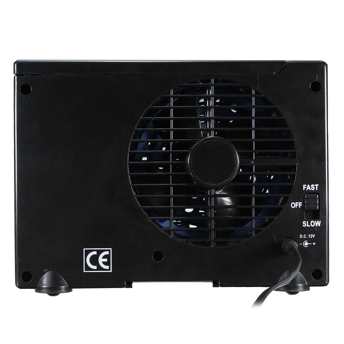 GOZAR 12V Portátil Home Car Refrigerador Refrigeración Ventilador Agua Hielo Aire Acondicionado Evaporativo: Amazon.es: Hogar