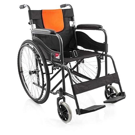 Silla de ruedas Plegable De Aluminio, Extraíble, Baranda ...
