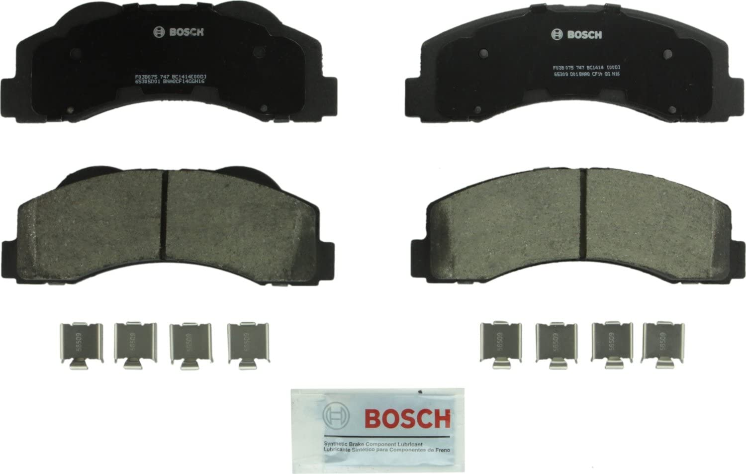 Disc Brake Pad Set-Quietcast Pads with Hardware Rear Bosch BP1453