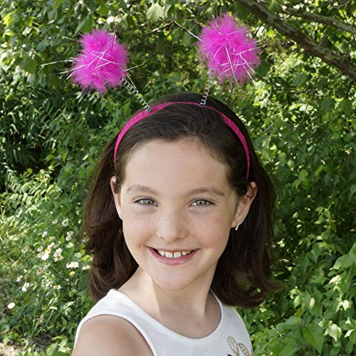 Pink Ladybug Costume (Pink Antenna Costume Novelty Headband - Robot Ladybug Space Head Alien Costume)