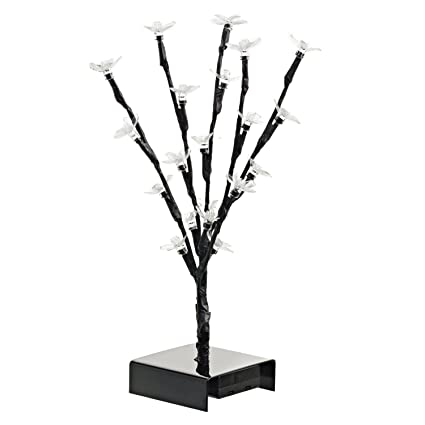 Ideas In Life 12 Inch LED Cherry Blossom Tree   Lighted Artificial Trees  For Home Decor